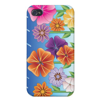 Rainy Flower Garden iPhone 4 Case