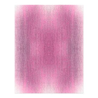 "Rainy Glass with Snow Retro Pink 8.5"" X 11"" Flyer"
