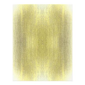 "Rainy Glass with Snow Retro Yellow 8.5"" X 11"" Flyer"