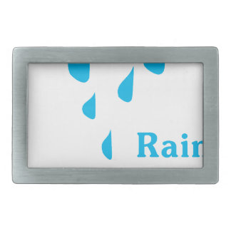 Rainy Illustration Belt Buckles