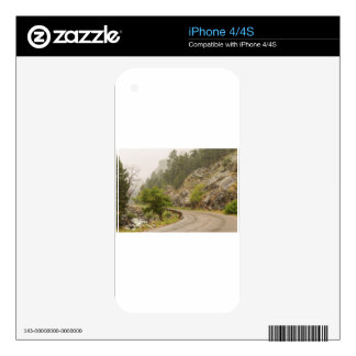 Rainy Misty Boulder Creek and Boulder Canyon Drive iPhone 4S Decal