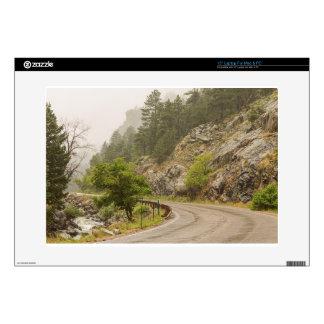 "Rainy Misty Boulder Creek and Boulder Canyon Drive Skin For 15"" Laptop"
