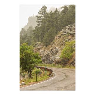 Rainy Misty Boulder Creek and Boulder Canyon Drive Stationery