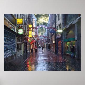 Rainy Morning -- Amsterdam in November Poster