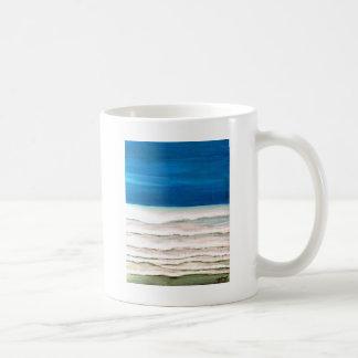 Rainy Morning Beach Surf Ocean Waves Painting Coffee Mug