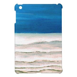 Rainy Morning Beach Surf Ocean Waves Painting Case For The iPad Mini