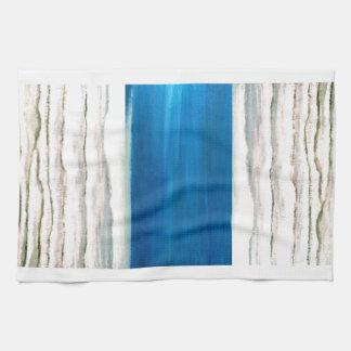 Rainy Morning Beach Surf Ocean Waves Painting Towels