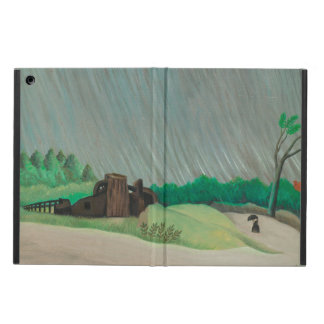 Rainy Morning Henri Rousseau, Vintage Fine Art Cover For iPad Air