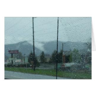 Rainy Mountain Day Card