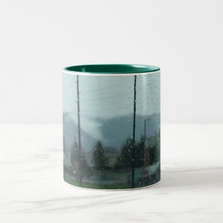 Rainy Mountain Day Coffee Mugs
