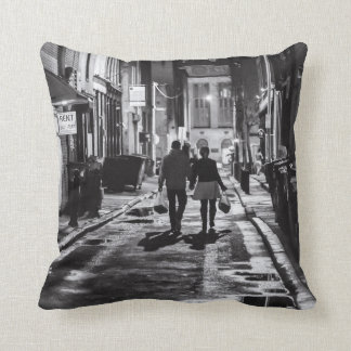 Rainy Night in the City Throw Pillow