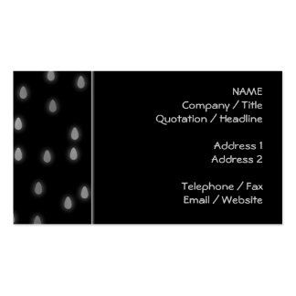 Rainy night sky. Black and Gray. Business Card