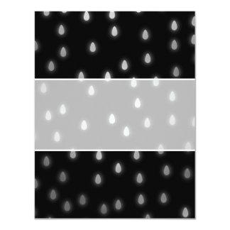 Rainy night sky. Black and Gray. 4.25x5.5 Paper Invitation Card