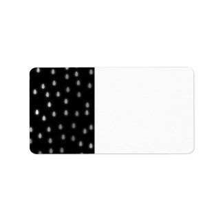 Rainy night sky. Black and Gray. Custom Address Labels