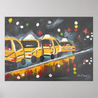 Rainy Park Avenue second version Poster