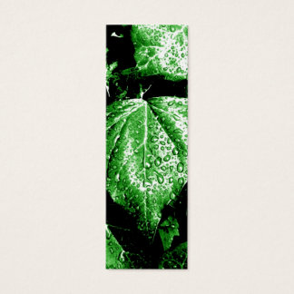 rainy plants bookmark_green mini business card