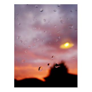 rainy reflections postcard