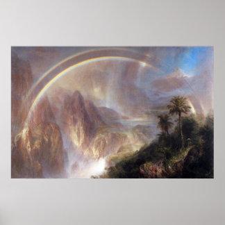 Rainy season in the tropics by Frederick Church Print