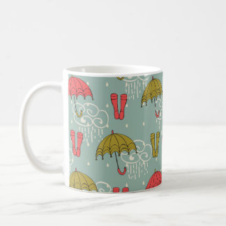 Rainy Season Umbrella Design Coffee Mug