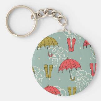 Rainy Season Umbrella Design Keychain