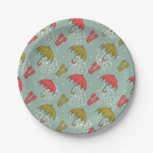Rainy Season Umbrella Design Paper Plate  sc 1 st  Zazzle & Seasonal Plates   Zazzle