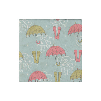 Rainy Season Umbrella Design Stone Magnet