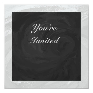 Rainy Sky Gray and Black Monogram Card