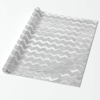 Rainy Sky Gray Chevron Pattern Wrapping Paper