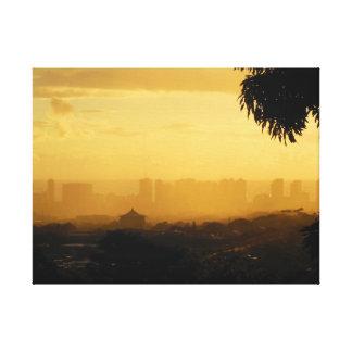 Rainy Sunset over Waikiki Canvas Print