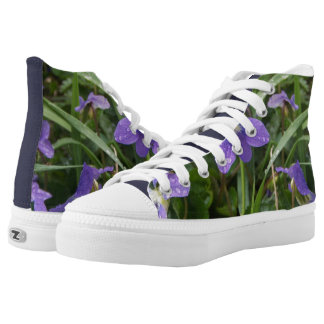 Rainy Violets High-Top Sneakers
