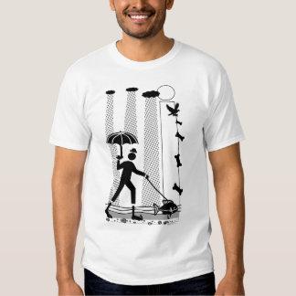 Rainy Walk with the Dog Fish Gear T-Shirt