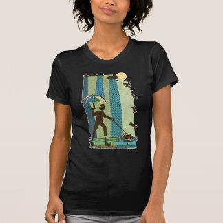 Rainy Walk with the Dog Fish T-Shirt