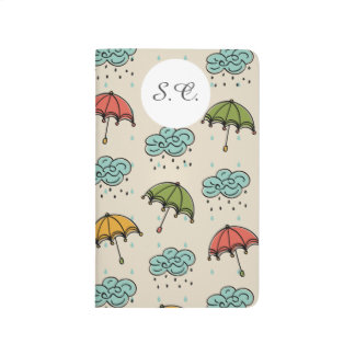 Rainy Water drops and Umbrellas Journal