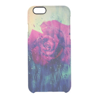 Rainy Wet Rose Uncommon Clearly™ Deflector iPhone 6 Case