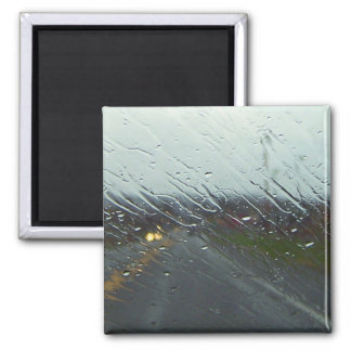 Rainy Windshield Refrigerator Magnet