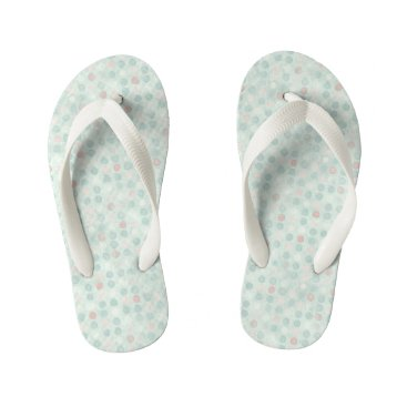 Beach Themed RainyDayFrog Kid's Flip Flops