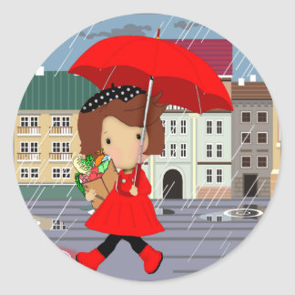 RainyDayGirl_kat Classic Round Sticker