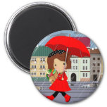 RainyDayGirl_kat Fridge Magnet