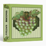 "RAISAIN GRAPES RECIPES Avery Signature 1.5"" Binder"
