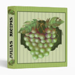 "RAISAIN GRAPES RECIPES Avery Signature 1"" Binder"