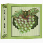 "RAISAIN GRAPES RECIPES  Avery Signature 2"" Binder"
