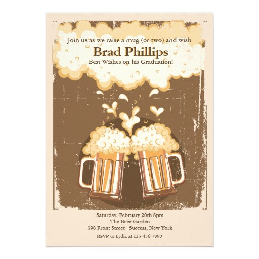 Raise a Glass of Beer Invitation