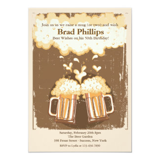 "Raise a Glass of Beer Invitation 5"" X 7"" Invitation Card"