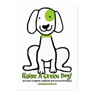 Raise a Green Dog Share-a-Card Large Business Card