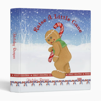 Raise A Little Cane Holiday Recipes - Customize 3 Ring Binder