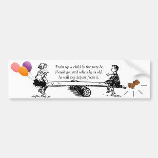 Raise Children God's Way Bumper Sticker