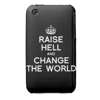 RAISE HELL AND CHANGE THE WORLD iPhone 3 COVER