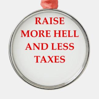 raise hell metal ornament