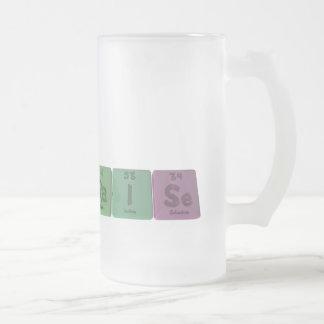 Raise-Ra-I-Se-Radium-Iodine-Selenium.png Frosted Glass Beer Mug