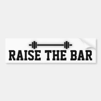 Raise the Bar: Motivational Attitude Car Bumper Sticker